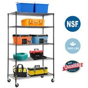 5-WireShelvingUnit Steel Large Metal Shelf Organizer Garage Storage Shelves