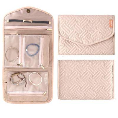 WEIBIN Jewelry Roll Foldable Travel Jewelry Case - Rings, Necklaces, Bracelets, Earrings Jewelry Storage Bag