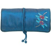 MMA Travel Jewelry Case Jewelry Roll Jewelry Travel Case Louis C. Tiffany Design Blue Jewelry Roll