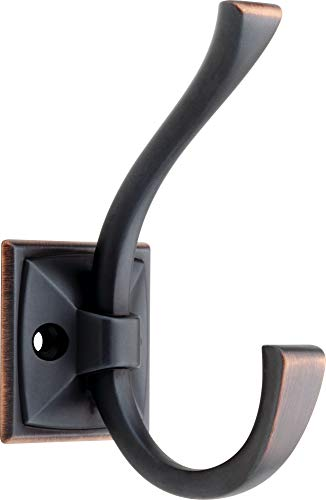 Liberty Hardware 137246 Ruavista Coat and Hat Hook, Single, Bronze with Copper Highlights