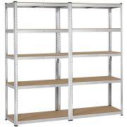 Yaheetech Heavy Duty Adjustable 5-Shelf Garage Shelving Storage Shelf Steel