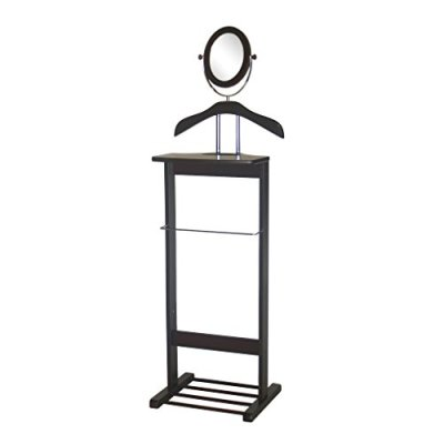 Proman Products Trojan (Walnut) Mirror Valet Stand