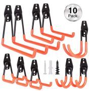 Mieuxbuck Garage Storage Hooks, 10-Pack Steel Utility Double Hooks