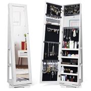 Titan Mall Armoire Jewelry Cabinet Standing Jewelry Organizer Jewelry Armoire