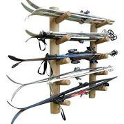 10 Slot Wall Mounted Ski Rack Unfinished
