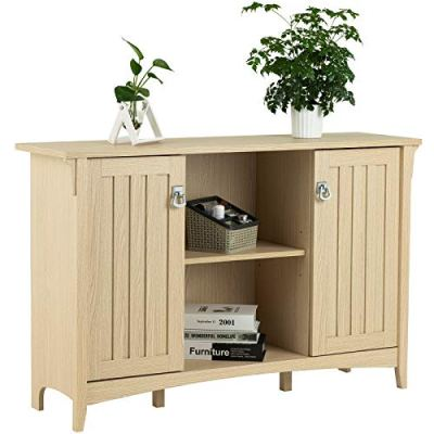 mecor Accent Storage Cabinet/TV Stand with 2 Doors and Shelves