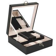 Lark and Harper Jewelry Box-Jewelry Organizer with Mini Travel Case and Mirror