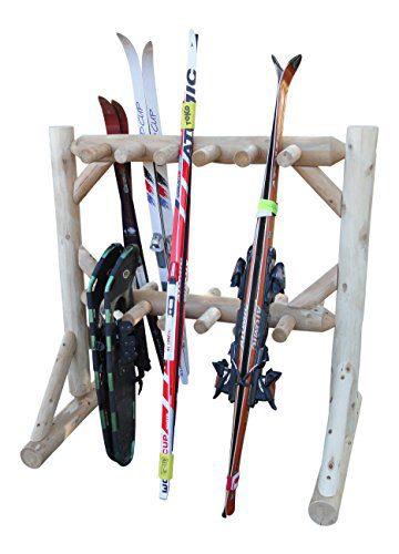 11 Pair Outdoor Freestanding Ski Plus Snowboard Rack Unfinished