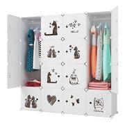KOUSI Kids Dresser Kids Closet Portable Closet Wardrobe Children Bedroom