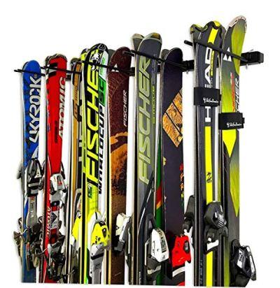 StoreYourBoard Omni Ski and Snowboard Wall Storage Rack   Holds 10 Pairs