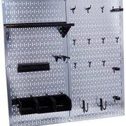 Wall Control Galvanized Steel Pegboard Tool Organizer, Galv/Black