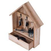 Wall Mount Entryway Key Holder Hooks, Key Hooks for Wall, Wooden Key Holder/Organizer with 3 Key Hooks