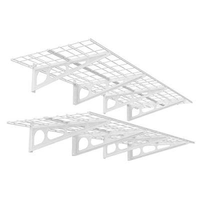 FLEXIMOUNTS 2-Pack 2x6ft 24-inch-by-72-inch Wall Shelf Garage Storage Rack