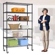 "XXFBag NSF 6 Tier Shelf Wire Shelving Unit 48"" x 18"" x 82"" Metal Storage Shelves"