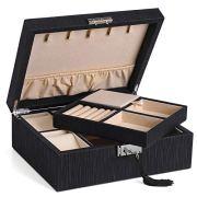 SONGMICS 2-Layer Jewelry Box, Lockable Jewelry Organizer
