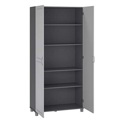 "SystemBuild Kendall 36"" Utility Storage Cabinet, Gray"
