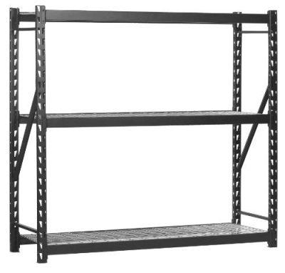 Sandusky Lee Muscle Rack Black Heavy Duty Steel Welded Storage Rack