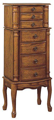 Powell Woodland Oak Jewelry Armoire