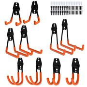 Garage Storage Utility Hooks, 10 Pack Heavy Duty Wall Mounted Tool Holder