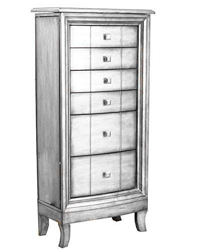 Hives and Honey Natalie Jewelry Armoire, Silver