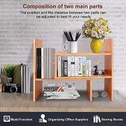 Adjustable Desktop Bookshelf Desk Organizer Display Shelf Rack Counter