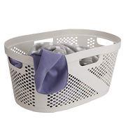 Mind Reader , Laundry, Storage, Bathroom, Bedroom, Home, Ivory 40 Liter Clothes