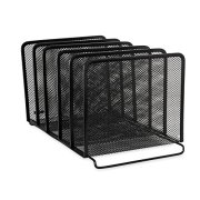 Rolodex Mesh Collection Stacking Sorter, 5-Section, Standard Packaging