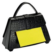 Post-it Super Sticky Pop-up Notes Dispenser for 3 in x 3 in Notes, Black Purse
