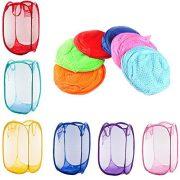 RayLineDo 6 x Foldable Pop Up Mesh Washing Laundry Basket Hamper Bag Bin Tidy Clothes Storage