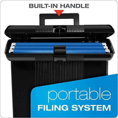 Pendaflex Portable File Box, Black