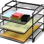 DecoBros Stackable 3 Tier Desk Document Letter Tray Organizer