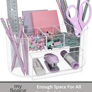 Acrylic Desk Organizer for Office Supplies and Desk Accessories Pen Holder Clear