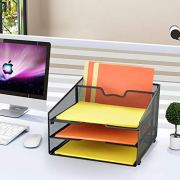 ProAid Mesh Office Desktop Accessories Organizer, Desk File Organizer