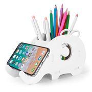 Desk Supplies Organizer, Mokani Cute Elephant Pencil Holder Multifunctional Office