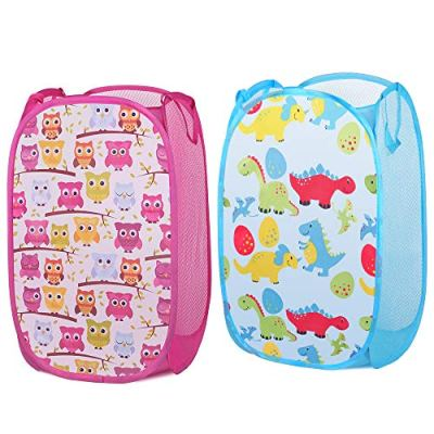 Luxamary Mesh Pop Up Laundry Hamper for Kids, Storage Hamper with Handles