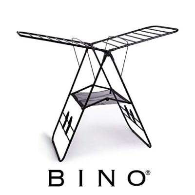 BINO Gullwing Collapsing Foldable Laundry Drying Rack, Black