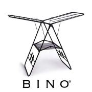 BINO Gullwing Collapsing Foldable Laundry Drying Rack, Black