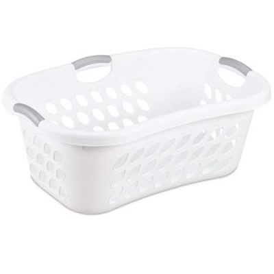 Sterilite 1.25 Bushel/44 L Ultra HipHold Laundry Basket, White