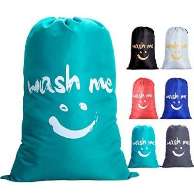 IHOMAGIC Laundry Bag Extra Large Bag Foldable Storage Bag 100L with Drawstring