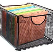 EasyPAG Office Folder Holder Organizer Mesh File Box Foldable Storage Crate