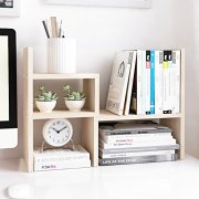 Jerry & Maggie - Desktop Organizer Office Storage Rack Adjustable Wood Display