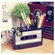 Cassette Tape Dispenser Pen Holder Vase Pencil Pot Stationery Desk Tidy Container