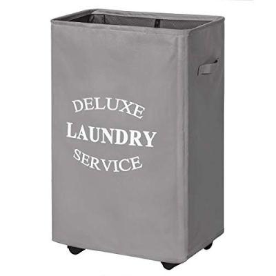 Chrislley 90L Rolling Laundry Hamper with Wheels Large Basket