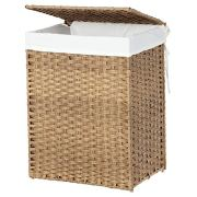 SONGMICS Handwoven Laundry Hamper, Synthetic Rattan Laundry Basket