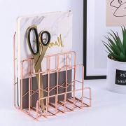 Z PLINRISE Mail Sorter, 3 Slot Letter Holder Rack, Decorative Desk Paper Organizer