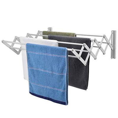 X-cosrack Wall Mount Clothes Drying Rack, Rustproof Accordion Retractable