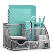 Mindspace Office Desk Organizer with 6 Compartments + Drawer + Pen & Pencil