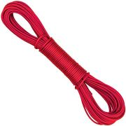 SteadMax Heavy Duty 66 Ft Clothesline Rope, Polyester Laundry Hanger, Multifunctional Cord, Clothesline for Indoor Outdoor, Perfect for Backyard, RV, Camping, DIY Craft Projects, Red (1 Pack)