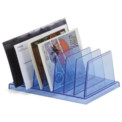 OfficemateOIC Blue Glacier Standard Sorter, 7 Compartments, Transparent Blue