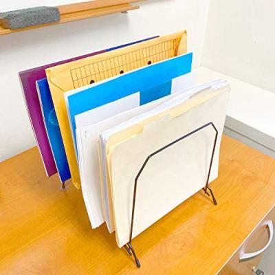 Large Metal Organizer Sorter Rack with Suction Feet | Stable File Folder Holder